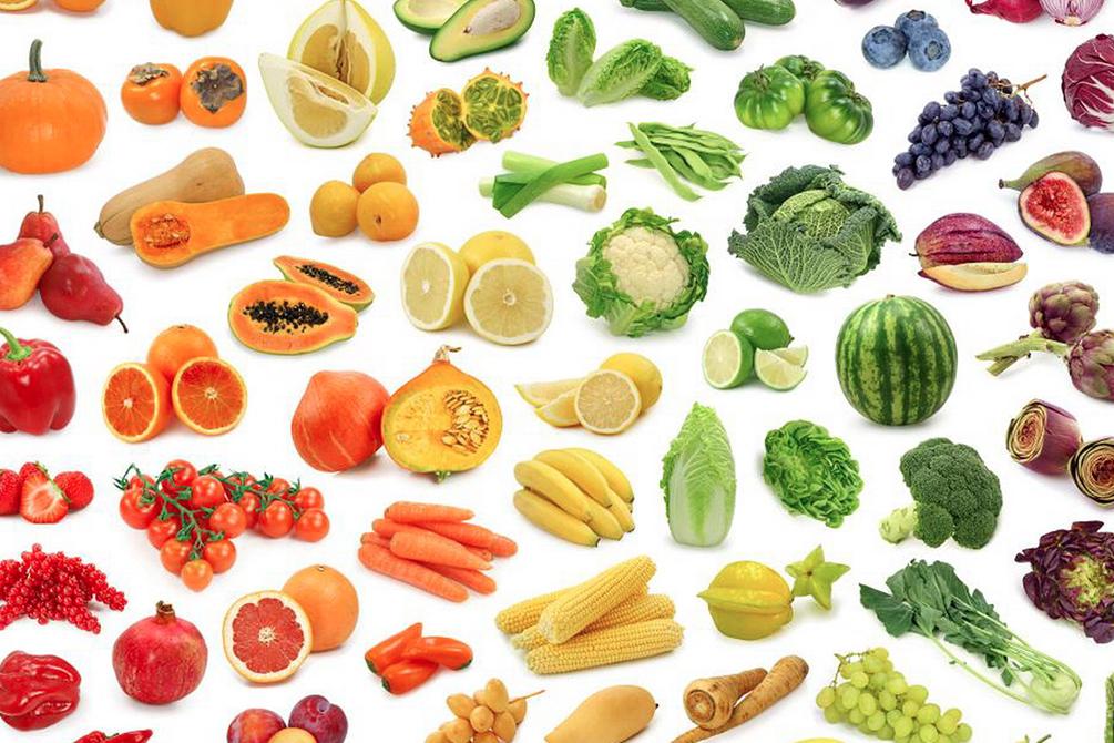 I colori dell'alimentazione