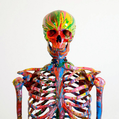 Damien Hirst portrait in Studio 2010